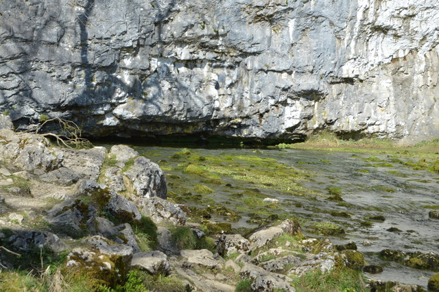 Malham Beck emerging from a cave