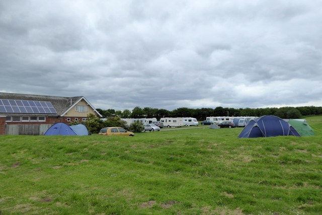 Tents and caravans at North Cliff Country Park, Filey