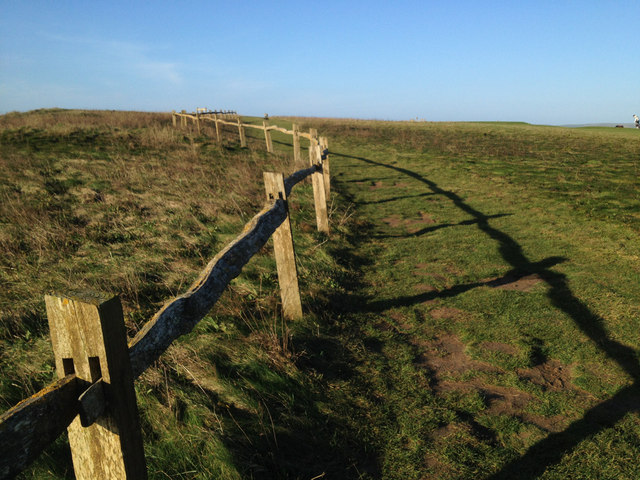 Timber fence, Seaford Head