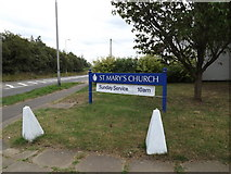 TL1116 : St.Mary's Church sign by Adrian Cable