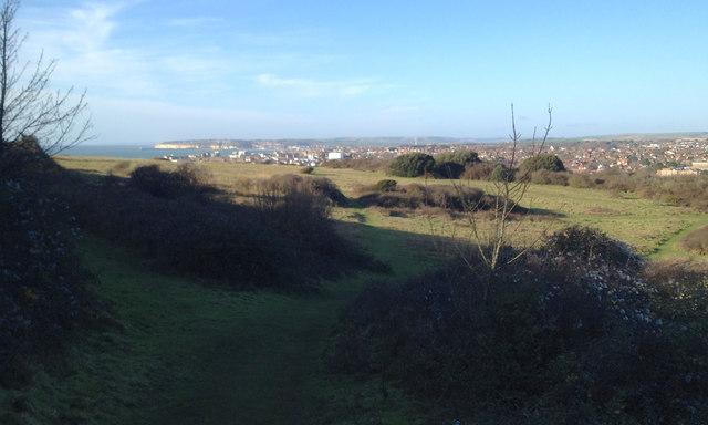 The north, non-golf, side of Seaford Head