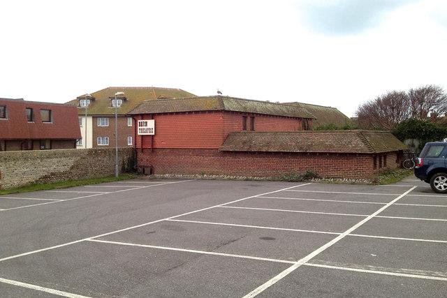 Back of the Barn Theatre, Saxon Lane car park, Seaford