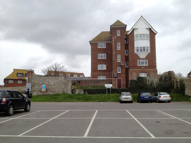 Four-storey flats overlooking Saxon Lane car park, Seaford