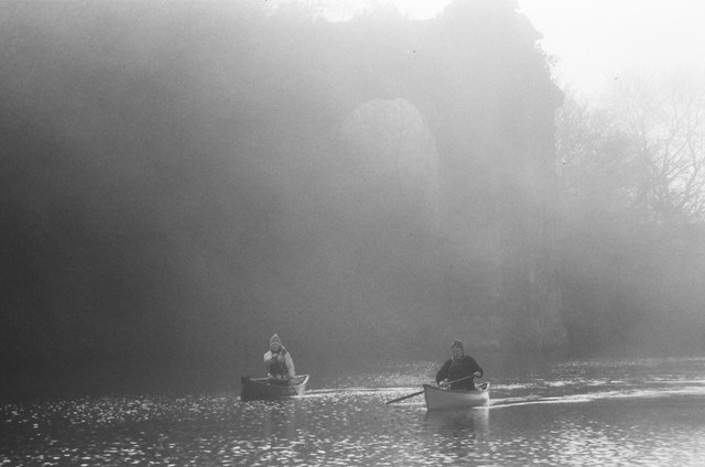 Canoeists on the Gloucester - Sharpness canal