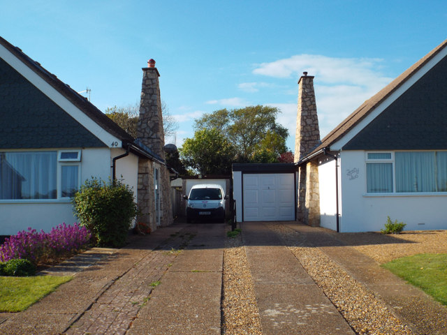 Drives to adjacent bungalows, Upper Belgrave Road, Seaford