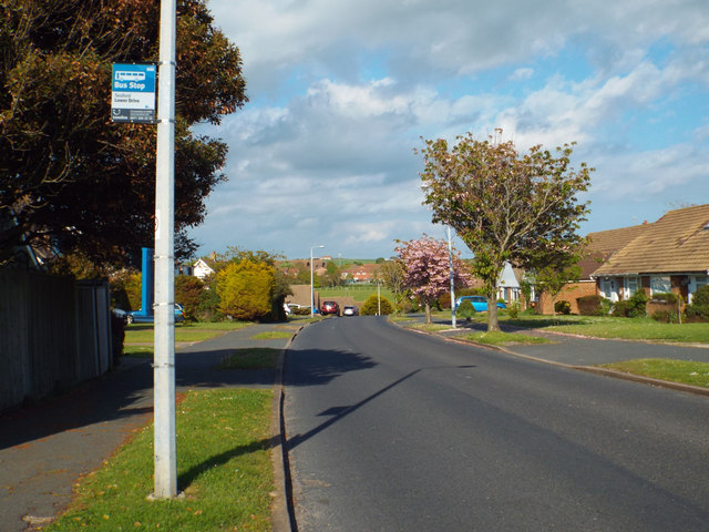 Bus stop on Upper Belgrave Road near Lower Drive, Seaford