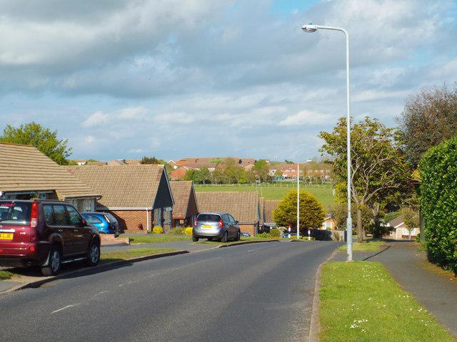 Upper Belgrave Road drops down to meet Lexden Road, Seaford