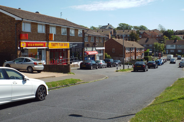 Local shops, southeast end of Lexden Road