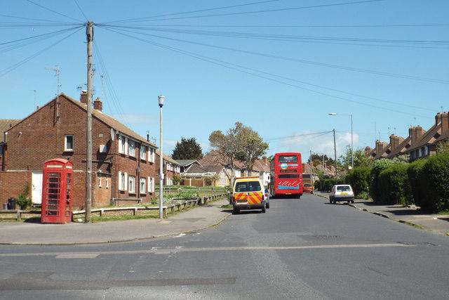 Northeast on Vale Road, Seaford