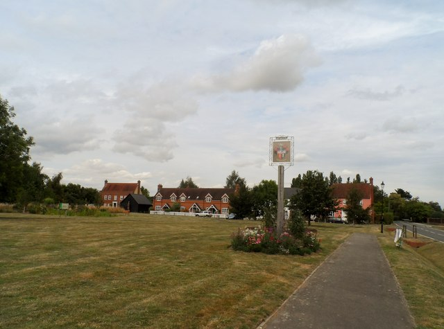 Fordham: Green and village sign