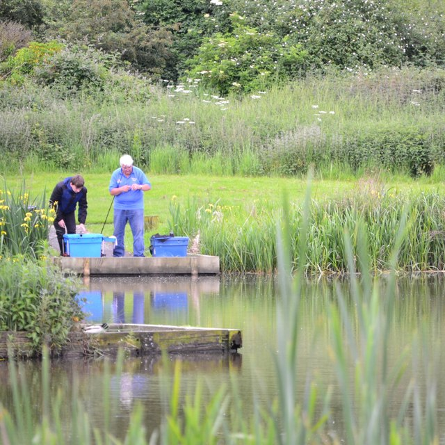 One-to-one angling instruction at Kingfisher Pool, Myton Fields, Warwick