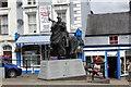SJ0743 : Statue of Owain Glyndŵr, Corwen by Jeff Buck