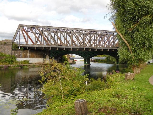 Railway bridge over the River Nene, Peterborough