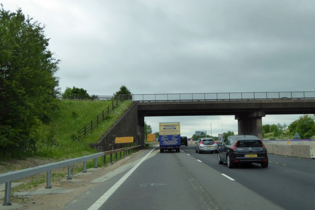 A616 westbound bridge over M1 at junction 30