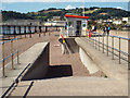 SX9472 : Profile of the sea wall, steps to the beach and the lifeguards' station, Teignmouth by Robin Stott