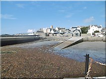 SC2667 : Castletown Harbour & slipway by Mike Faherty