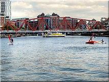 SJ8097 : Salford Quays, Huron Basin and the Detroit Bridge by David Dixon
