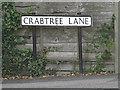 TL1413 : Crabtree Lane sign by Adrian Cable
