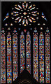 SO8454 : West window, Worcester Cathedral by Julian P Guffogg
