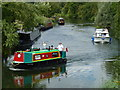 TL0894 : Boating on The River Nene at Elton by Richard Humphrey