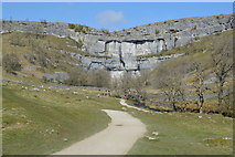 SD8964 : The Pennine Way leading to Malham Cove by N Chadwick