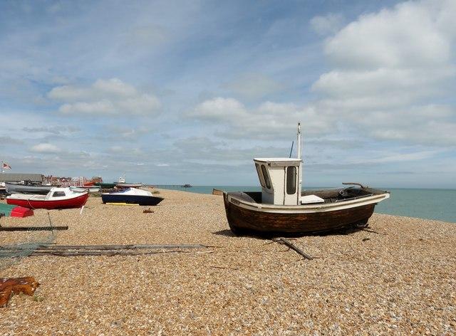 Boats  on  the  shingle  beach  Lower  Walmer
