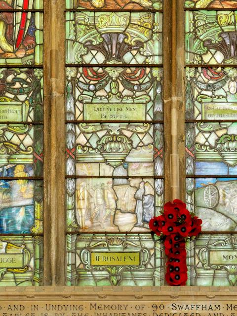 Swaffham Parish Church War Memorial Window: Jerusalem