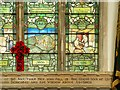 TF8208 : Swaffham Parish Church War Memorial Window: Mons and Healing by David Dixon