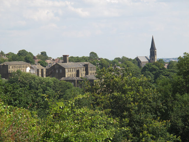 Thornton village - mills and church