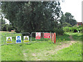 TG4319 : Footpath diversion signs by the River Thurne by Evelyn Simak