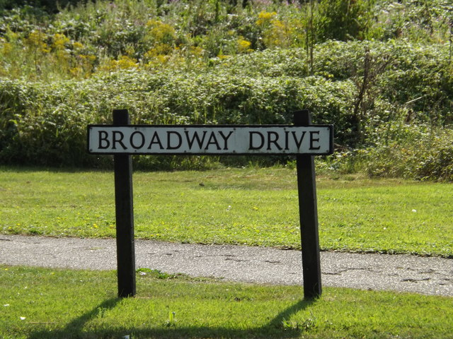 Broadway Drive sign