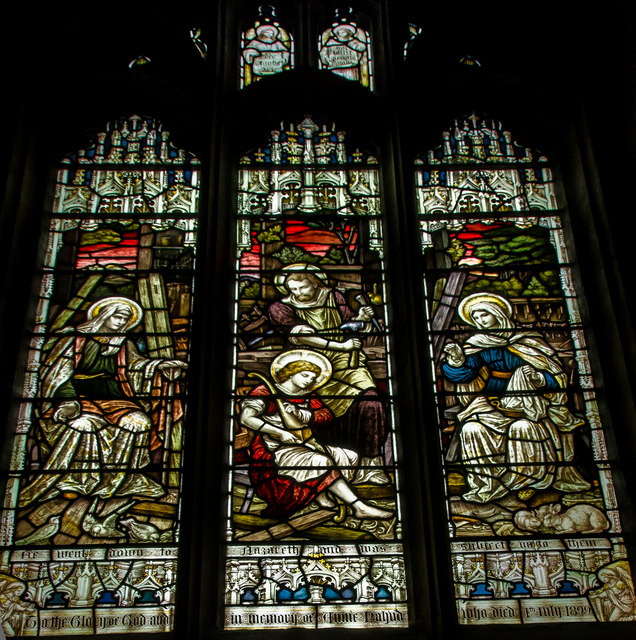 Stained glass window, St James' church, Louth