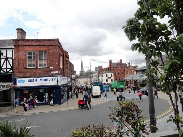 Looking down Tubwell Street, Darlington