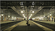 NS4864 : Paisley Gilmour Street railway station at night by Thomas Nugent