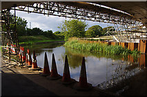 SD4764 : Milestone Bridge construction, Lancaster Canal by Ian Taylor