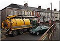 ST3089 : Yellow council lorry in Malpas Road, Newport by Jaggery