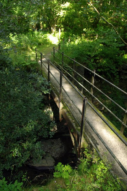 Footbridge near Corris Uchaf