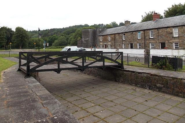 Iron canal bridge opposite Chapel Row, Merthyr Tydfil