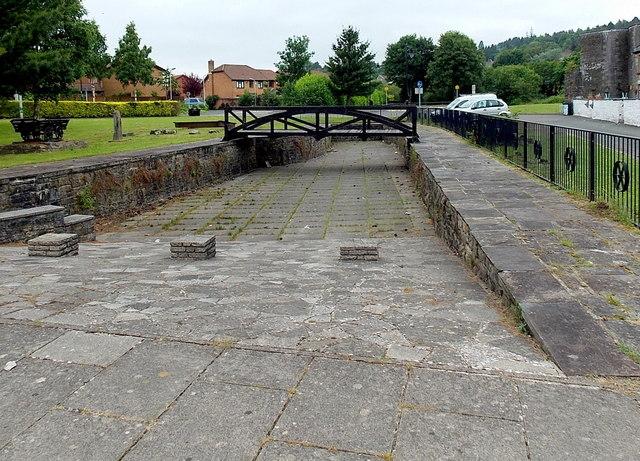 Iron bridge opposite Chapel Row,  Merthyr Tydfil