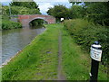 SK2526 : Trent & Mersey Canal Milepost near Stretton by Mat Fascione