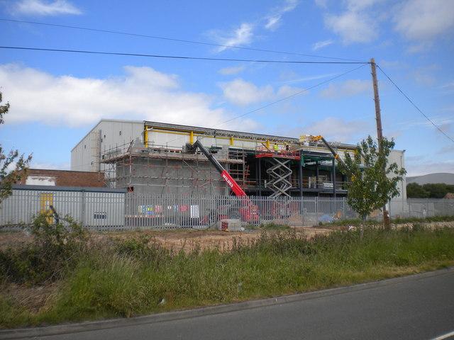Warehouse under construction, Harlescott