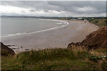 TA1281 : Filey Beach from the Path to Filey Brigg, Yorkshire by Christine Matthews