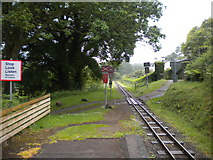 SD1499 : West end of Eskdale Green station by Richard Vince