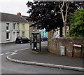 SN5601 : Grey phonebox in Llangennech by Jaggery