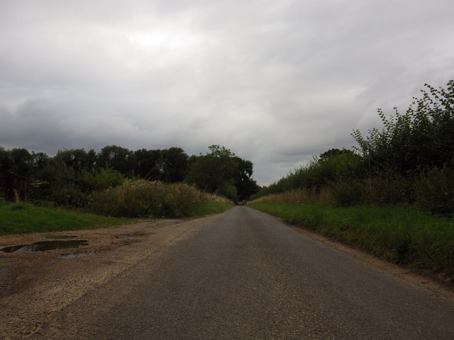 Looking North up Church Road, Great Barton