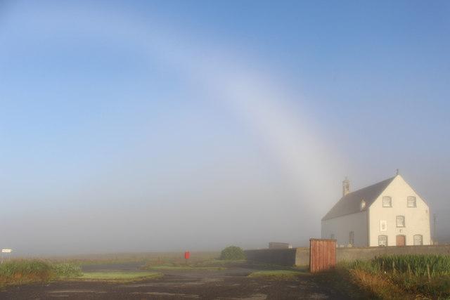 Mist Bow at Hamnavoe Church