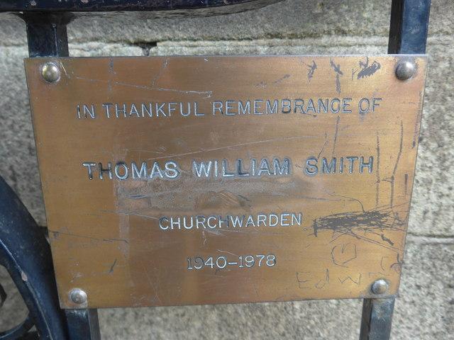 St Michael, Taddington: lych gate memorial