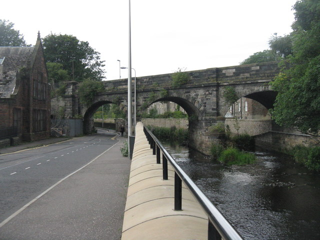 The Water of Leith and Warriston Road by M J Richardson