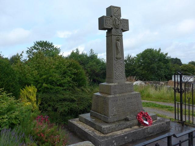 St Michael, Taddington: war memorial