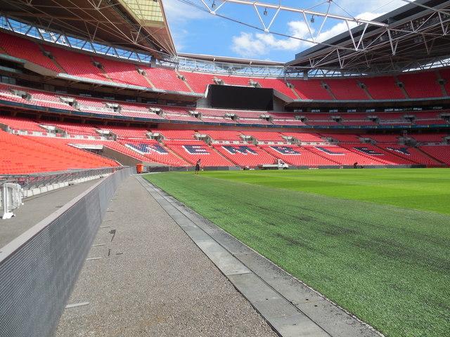 Pitch side view - Wembley Stadium